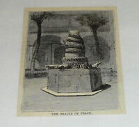 1878 small magazine engraving ~ THE ORACLE OF PEACE ~ City of Mexico