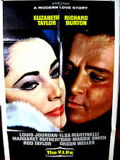 "The V.I.P.s G-VG.Orig.US 27x41 ""A' movie poster Elizabeth Taylor Richard Burton"