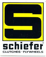 vtg hot rod sticker Schiefer Flywheel Clutch Drag Race 70's nos old speed shop