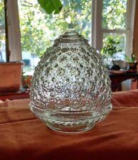 Ceiling Lamp Globe replacement Light fixture shade part glass floral design EUC