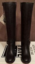 NEW WOMEN FRYE MALORIE KNOTTED  BLACK LEATHER TALL BOOTS NOT DISTRESED SZ 7.5