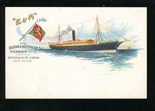 Shipping E&A Eastern & Australian Line Steamship Co Steamer chromo c1902 PPC