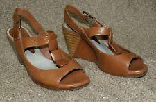 Clarks Sandalias Parte superior de cuero marrón Talla 5.5