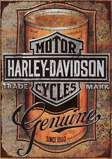 "Harley Davidson GENUINE 10x8"" Retro Vintage Metal Advertising Sign Wall Art Pic"