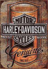 "Harley Davidson GENUINE 10x8"" Retro Vintage Metal Advertising Sign Wall Art Pic"
