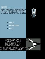 1961 Plymouth Bevedere Fury Savoy Shop Service Repair Manual Book Guide OEM