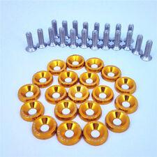 20pcs Gold Billet Aluminum Fender Bumper Washer Engine Bay Dress Up Kit