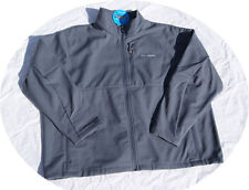 Mens Columbia Jacket Spring Fall Ascender Soft Shell Fleece COAT 4X 4XL