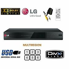 LG DP132 DVD player with flexible USB & DivX playback,Black-Brand New -MULTIZONE