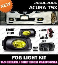 04 05 ACURA TSX Fog Light Driving Lamp Kit w/switch wiring (YELLOW)