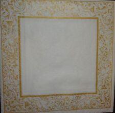 4 x singolo di carta Tovaglioli Decoupage CRAFT tavola party-oro FRAME 17