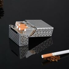 Silver Aluminium Mesh Ciggy Cigarette Storage Box with Magnetic Lock. Holds 20