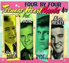 """Teenage Heartthrobs"" Elvis Presley, Pat Boone, Bobby Darin Rydell [4CD Box Set]"