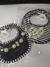 Lot of 2 Mud Pie Bibs - NEW - OOPSIE DAISY + DAISY HEART