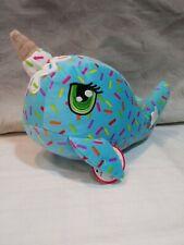 NEW Peek A Boo Narwal Icecream Cone Sprinkles Stuffed Plush