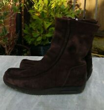 BALLY 'Dezza' UK 6 EUR 39 Brown Sheepskin / Leather Boots