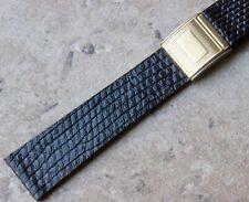 Desplegable Cierre 19mm Original Lagarto Vintage Reloj Correa Para Muchos Muñeca