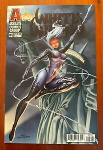 WHITE WIDOW #2 Ace Continuado Blue Foil Variant Cover Red Giant Comics 2019 NM