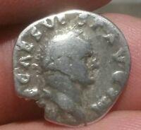 VESPASIAN. 69-79AD. Roman Imperial . Silver Denarius