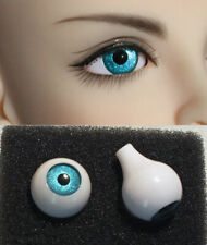 14mm acrylic bjd doll eyes metallic peacock blue full eyeball dollfie ship US