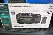 Logitech Cordless Desktop Wave Ergonomic Keyboard and LX8 LASER Mouse 920-000264