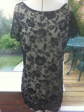 South Lace Tunic with Contrast Lining Size 16