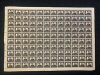 AFS13) Australia 1954 3½d Black Swan full mint unhinged sheet of 120