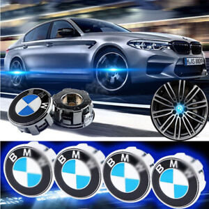 Floating LED Illuminated Wheel Rim Center Cap 68mm Fit For BMW Emblem Logo Badge