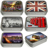 Personalised Travel Tobacco Tin 2oz Baccy Fathers Day Cigarette Birthday Gift