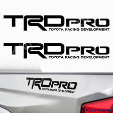 TRD PRO Toyota Tacoma Tundra Racing Decals Stickers Graphic Cut Vinyl (2 pieces)