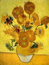 2017 Hand Art Home Decor Oil painting Van Gogh's masterpiece - Sunflower yellow