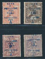 ETHIOPIA postage due, Mi. 9 + 11-13 a DD **/MNH, double overprint!! Very fine!!