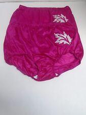 (2) Contessa Plus Nylon Brief Panties with Decorative Applique Size 11 / 4X PINK