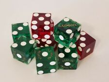 Luxor Casino Dice Played 10 Ct Matching Numbers 5 Green + 5 Red Almost Gone‼�