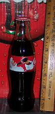 2013 HADDON SUNBLOOM SANTA HOLIDAY 2013  8 OUNCE GLASS  COCA - COLA BOTTLE