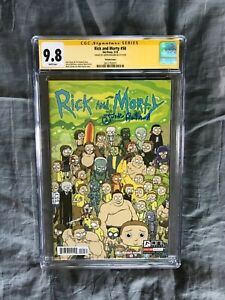 SIGNED 9.8 CGC SS RICK & MORTY 50 Justin Roiland season 5 and 1 variant mint nm