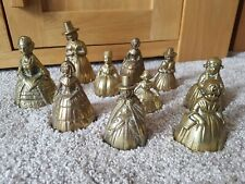 10 Individual Brass Bell Figurines