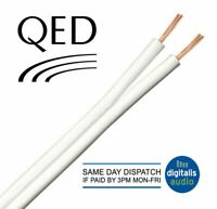 10m of White QED 42 Strand Oxygen Free Copper (OFC) HiFi Speaker Cable