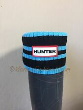 Medium M (5-7) HUNTER Striped Knit Cuff Fleece Welly Tall Rain Boot Liner Socks