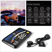 "5.5"" Car HUD Head-Up Display OBD2 Dashboard Speedometer Projector Speed Warning"
