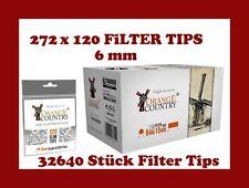 32640 stück ORANGE COUNTRY Slimfilter Drehfilter 6mm FILTER Zigarettenfilter