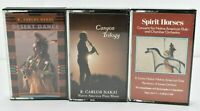 Native American Indian Flute Music - Carlos Nakai - Set of 3 Cassettes  VG