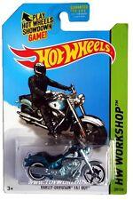 2014 Hot Wheels #209 Harley Davidson Fat Boy Super Treasure Hunt (Non-Mint Card)