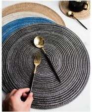 Table Mats Home Decors Round Woven Placemats Heat Resistant Kitchen Anti-skid