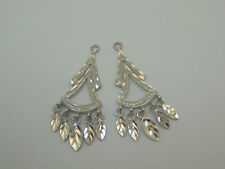 14k white Dangle Earring Jackets For Studs 2447A