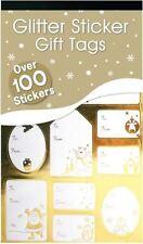 100 De Lujo Plateado Dorado Etiquetas Navidad Pegatina Regalo Nombre Envolvente