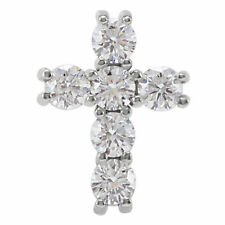 "Diamond Cross 18"" Necklace In 14K White Gold (3/4 ct. tw.)"