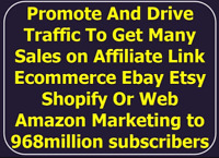 I Will Promote Drive Traffic With Many Sales To Affiliate Link Ebay Etsy Shopify