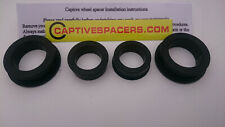 CBR600 F4  2001- 2006 Captive wheel Spacers. Full set. UK made. Anodised Black.