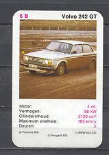 Volvo 242 GT Kwartet card/Quartet card/Spielkarte